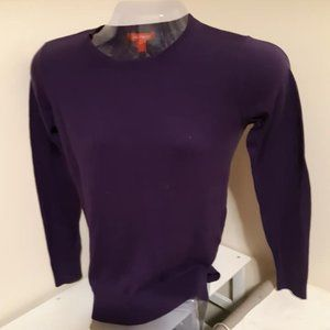 Joe Fresh Long Sleeved Dark Purple Sweater